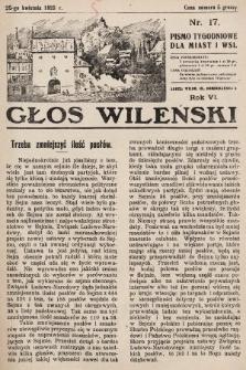 Głos Wileński : pismo tygodniowe dla miast i wsi. 1926, nr17