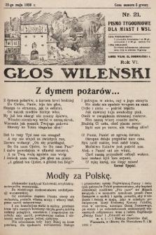 Głos Wileński : pismo tygodniowe dla miast i wsi. 1926, nr21