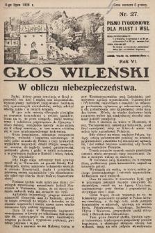 Głos Wileński : pismo tygodniowe dla miast i wsi. 1926, nr27