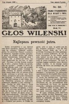 Głos Wileński : pismo tygodniowe dla miast i wsi. 1926, nr32