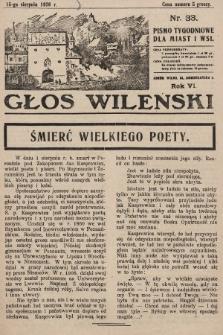 Głos Wileński : pismo tygodniowe dla miast i wsi. 1926, nr33