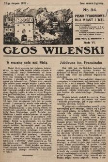 Głos Wileński : pismo tygodniowe dla miast i wsi. 1926, nr34