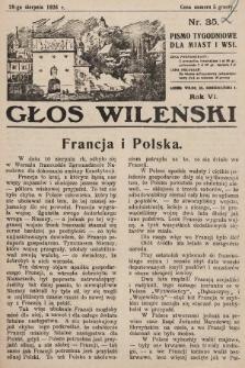 Głos Wileński : pismo tygodniowe dla miast i wsi. 1926, nr35