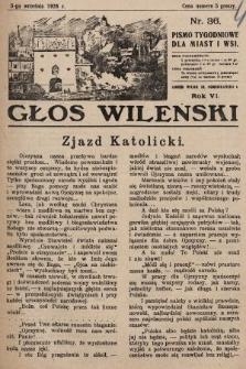 Głos Wileński : pismo tygodniowe dla miast i wsi. 1926, nr36