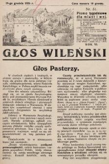 Głos Wileński : pismo tygodniowe dla miast i wsi. 1926, nr51