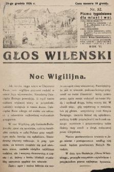 Głos Wileński : pismo tygodniowe dla miast i wsi. 1926, nr52