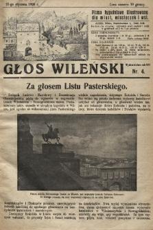 Głos Wileński : pismo tygodniowe illustrowane dla miast, miasteczek i wsi. 1928, nr4