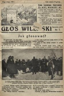 Głos Wileński : pismo tygodniowe illustrowane dla miast, miasteczek i wsi. 1928, nr7