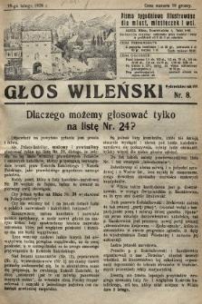 Głos Wileński : pismo tygodniowe illustrowane dla miast, miasteczek i wsi. 1928, nr8