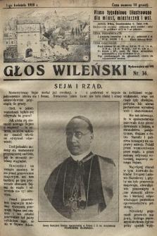 Głos Wileński : pismo tygodniowe illustrowane dla miast, miasteczek i wsi. 1928, nr14
