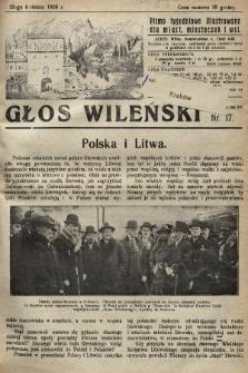 Głos Wileński : pismo tygodniowe illustrowane dla miast, miasteczek i wsi. 1928, nr17