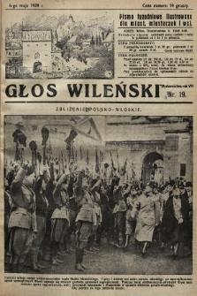Głos Wileński : pismo tygodniowe illustrowane dla miast, miasteczek i wsi. 1928, nr19
