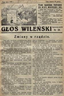 Głos Wileński : pismo tygodniowe illustrowane dla miast, miasteczek i wsi. 1928, nr28