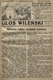 Głos Wileński : pismo tygodniowe ilustrowane dla miast, miasteczek i wsi. 1929, nr2