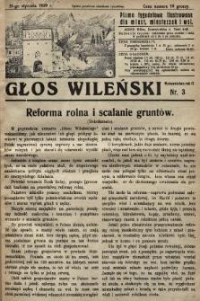Głos Wileński : pismo tygodniowe ilustrowane dla miast, miasteczek i wsi. 1929, nr3