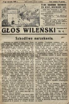 Głos Wileński : pismo tygodniowe ilustrowane dla miast, miasteczek i wsi. 1929, nr4
