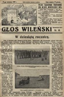 Głos Wileński : pismo tygodniowe ilustrowane dla miast, miasteczek i wsi. 1929, nr16