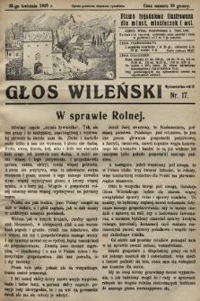 Głos Wileński : pismo tygodniowe ilustrowane dla miast, miasteczek i wsi. 1929, nr17
