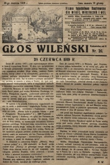 Głos Wileński : pismo tygodniowe ilustrowane dla miast, miasteczek i wsi. 1929, nr26