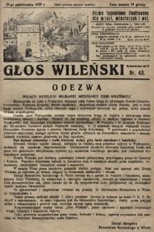 Głos Wileński : pismo tygodniowe ilustrowane dla miast, miasteczek i wsi. 1929, nr43