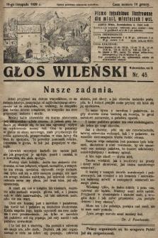 Głos Wileński : pismo tygodniowe ilustrowane dla miast, miasteczek i wsi. 1929, nr45