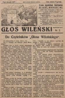 Głos Wileński : pismo tygodniowe ilustrowane dla miast, miasteczek i wsi. 1930, nr2