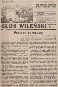 Głos Wileński : pismo tygodniowe ilustrowane dla miast, miasteczek i wsi. 1930, nr4