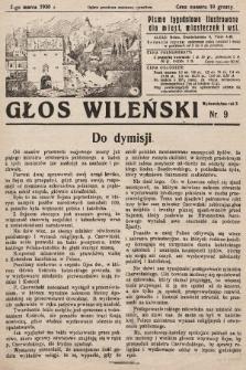 Głos Wileński : pismo tygodniowe ilustrowane dla miast, miasteczek i wsi. 1930, nr9