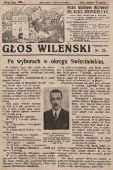 Głos Wileński : pismo tygodniowe ilustrowane dla miast, miasteczek i wsi. 1930, nr29