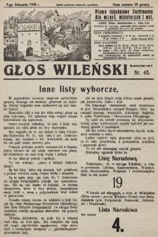 Głos Wileński : pismo tygodniowe ilustrowane dla miast, miasteczek i wsi. 1930, nr45