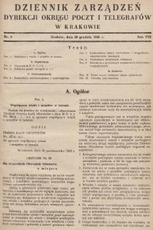 Dziennik Zarządzeń Dyrekcji Okręgu Poczt i Telegrafów w Krakowie. 1945, nr3