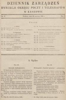 Dziennik Zarządzeń Dyrekcji Okręgu Poczt i Telegrafów w Krakowie. 1948, nr11