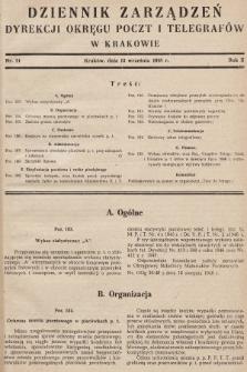Dziennik Zarządzeń Dyrekcji Okręgu Poczt i Telegrafów w Krakowie. 1948, nr14