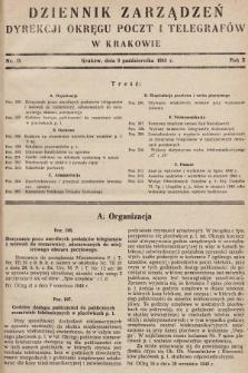 Dziennik Zarządzeń Dyrekcji Okręgu Poczt i Telegrafów w Krakowie. 1948, nr15