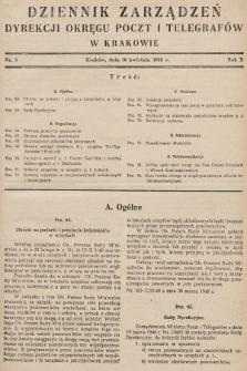 Dziennik Zarządzeń Dyrekcji Okręgu Poczt i Telegrafów w Krakowie. 1948, nr5