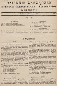 Dziennik Zarządzeń Dyrekcji Okręgu Poczt i Telegrafów w Krakowie. 1948, nr6