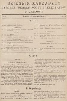 Dziennik Zarządzeń Dyrekcji Okręgu Poczt i Telegrafów w Krakowie. 1948, nr10