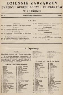 Dziennik Zarządzeń Dyrekcji Okręgu Poczt i Telegrafów w Krakowie. 1948, nr17