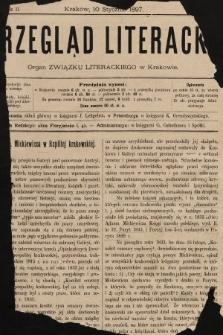 Przegląd Literacki : organ Związku Literackiego w Krakowie. 1897, nr1