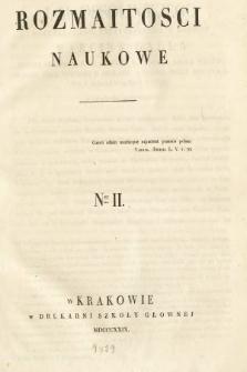 Rozmaitości Naukowe. 1829, nr1