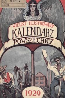 Wielki Ilustrowany Kalendarz Powszechny na Rok 1929