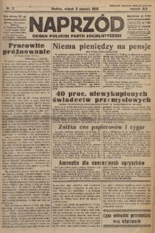Naprzód : organ Polskiej Partji Socjalistycznej. 1933, nr2
