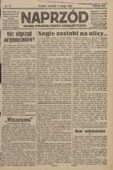 Naprzód : organ Polskiej Partji Socjalistycznej. 1933, nr27