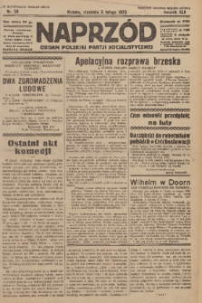 Naprzód : organ Polskiej Partji Socjalistycznej. 1933, nr29 (po konfiskacie nakład drugi)