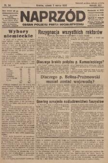 Naprzód : organ Polskiej Partji Socjalistycznej. 1933, nr54