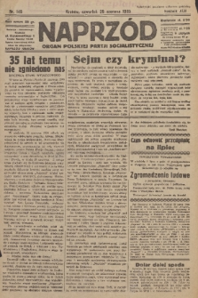 Naprzód : organ Polskiej Partji Socjalistycznej. 1933, nr146