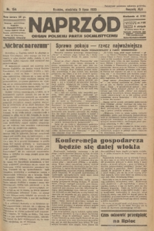Naprzód : organ Polskiej Partji Socjalistycznej. 1933, nr154