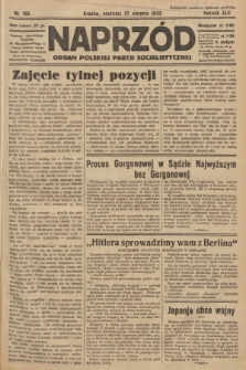Naprzód : organ Polskiej Partji Socjalistycznej. 1933, nr195