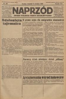 Naprzód : organ Polskiej Partji Socjalistycznej. 1933, nr201 (po konfiskacie nakład drugi)