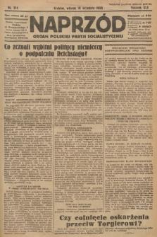 Naprzód : organ Polskiej Partji Socjalistycznej. 1933, nr214